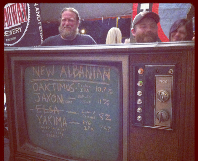 New Albania Brewing Co, clever use of an old TV at St. Louis Microfest