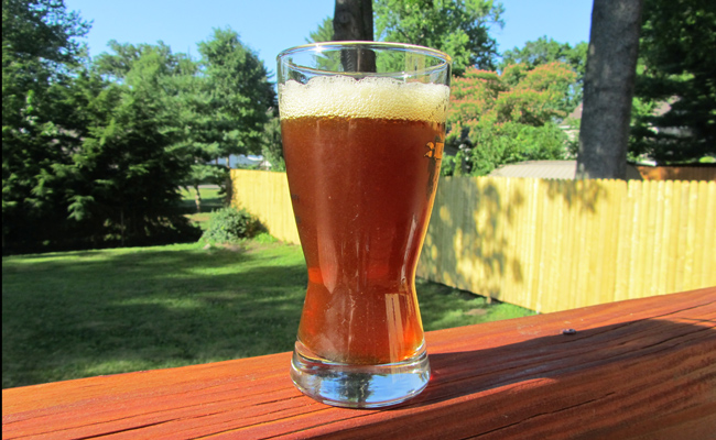 Glass of Beer from st. Louis Mircobrew