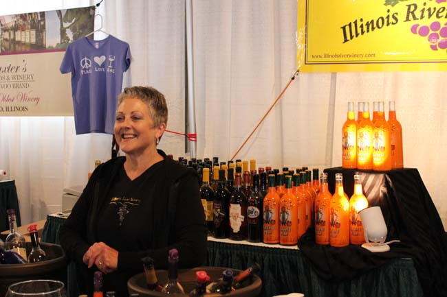 Winery booth at Illinois State Fair