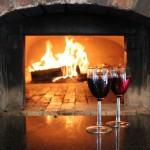 Thanksgiving day wines around a warm fire