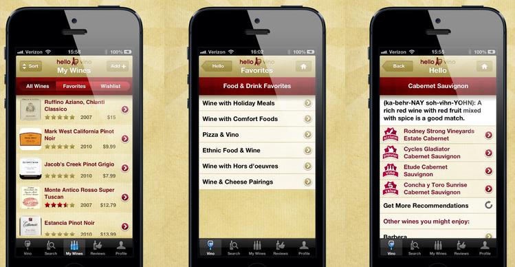 Hello Vino wine app