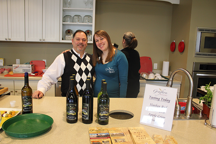 Grafton Winery's Chef A.J. Giacalone and Erin Prott